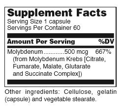 DL-(Molybdenum 500mcg) 60ct