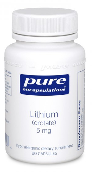 PE-(Lithium Oroate 5mg) 90ct