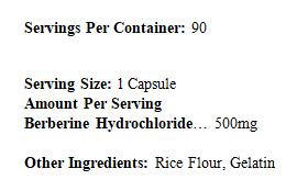 VZ-(Berberine HCL) 90ct
